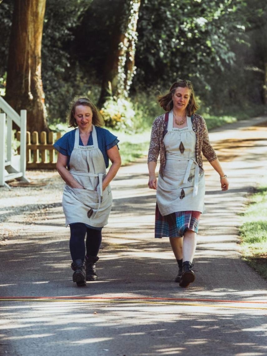 Locals & Larkswold ladies:Melinda & Emma