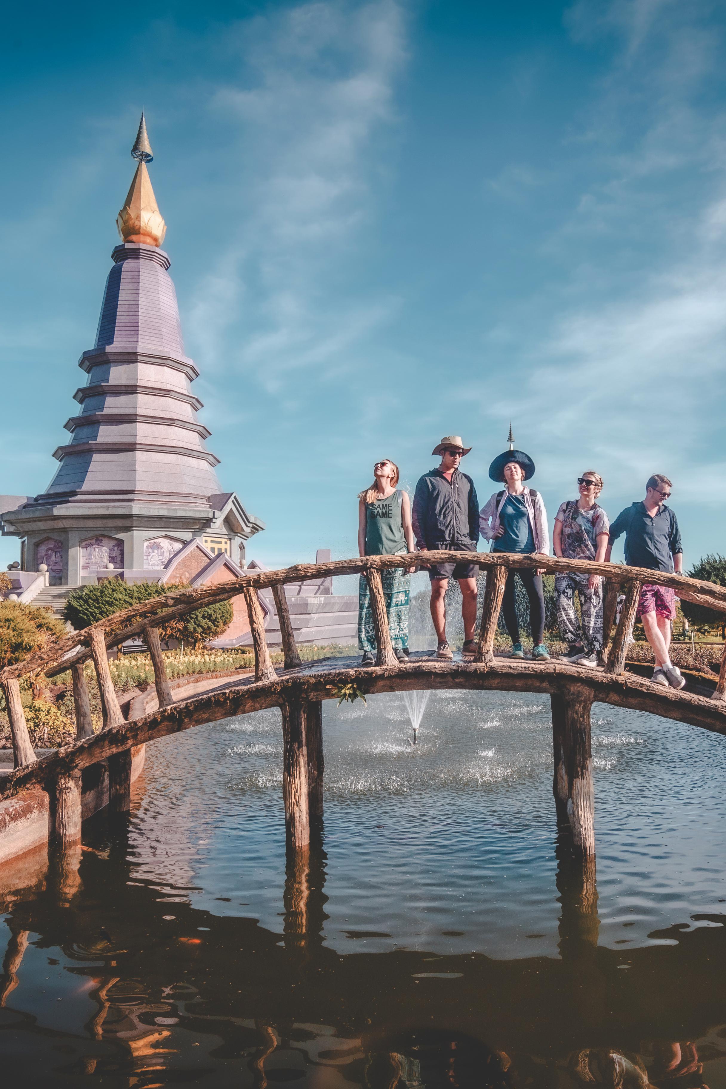 Twin pagoda & The gang