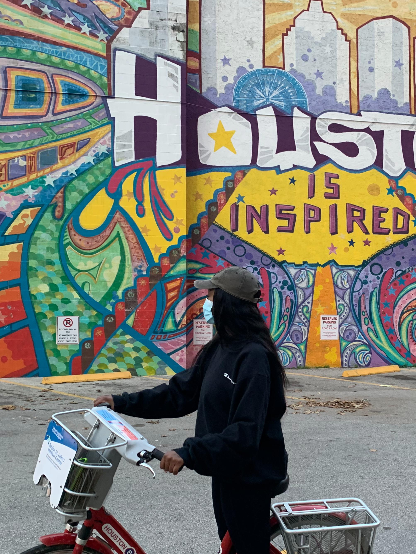 "Famous ""Houston is Inspired"" mural"