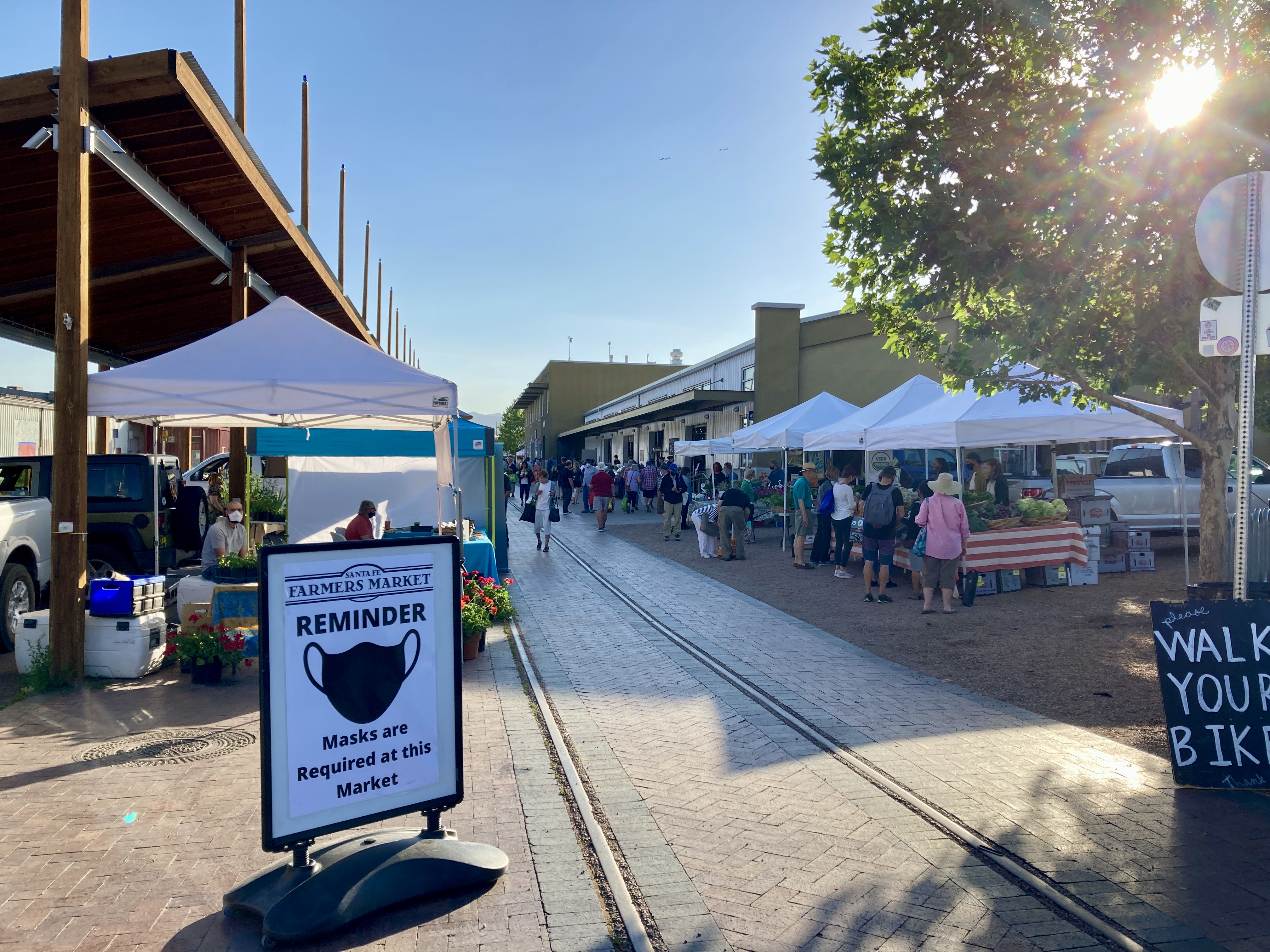 The farmers market at the Railyard