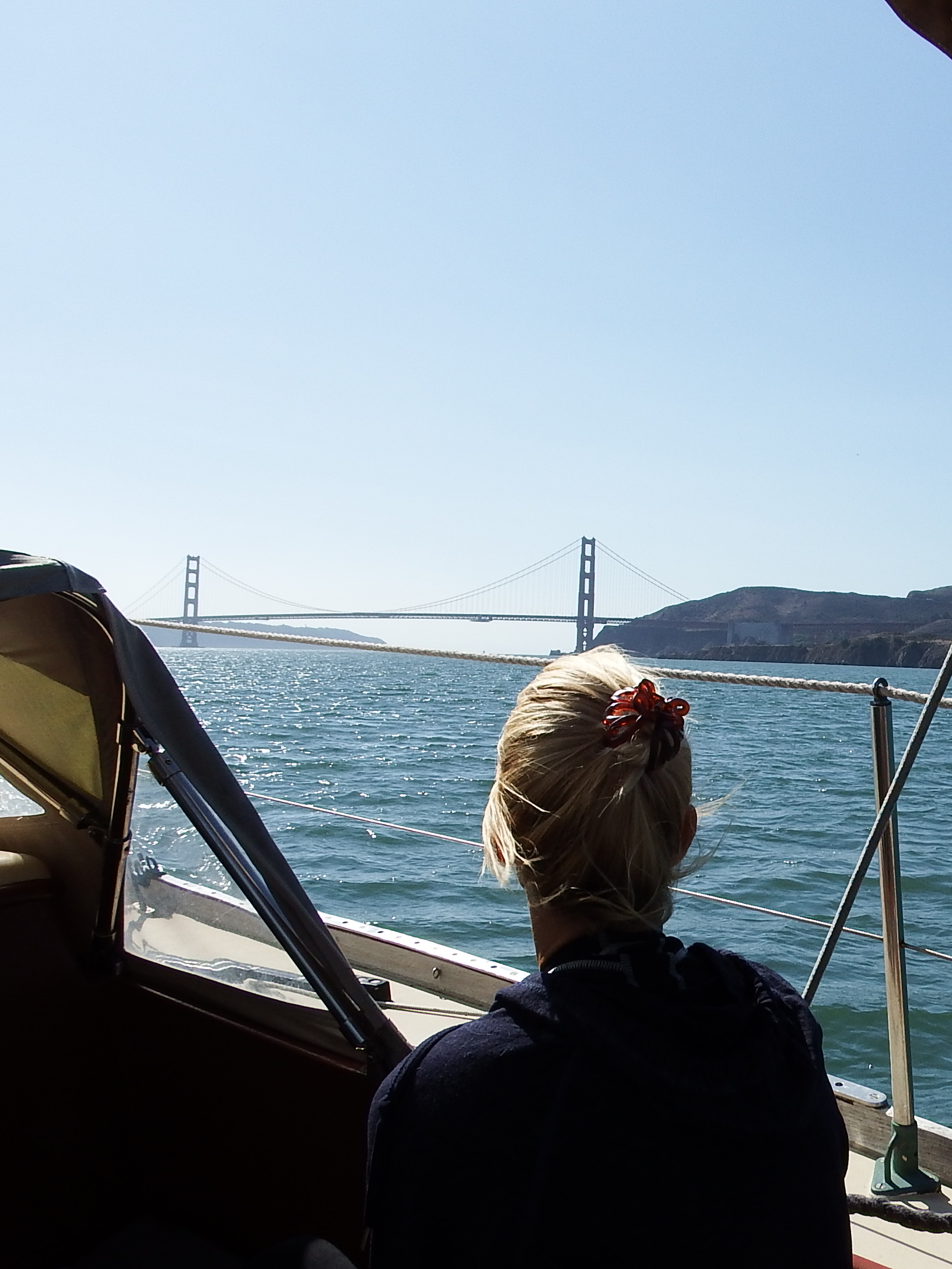 On our way to the Golden Gate!