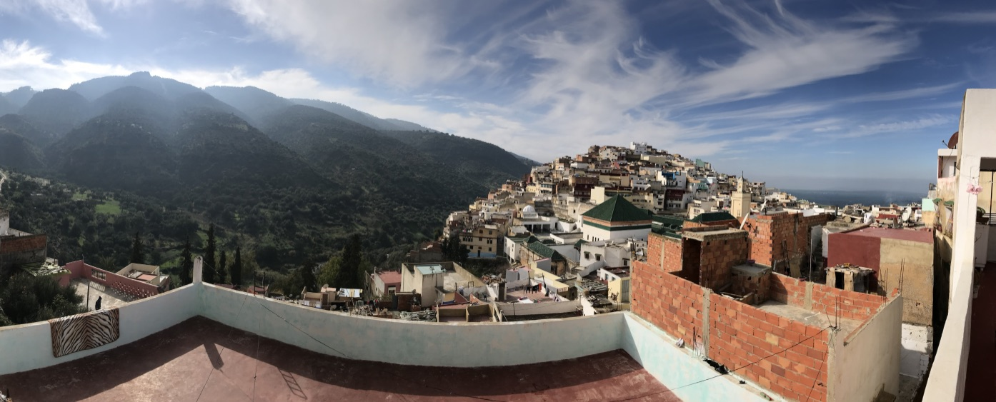 Panoramic view from Moroccan home