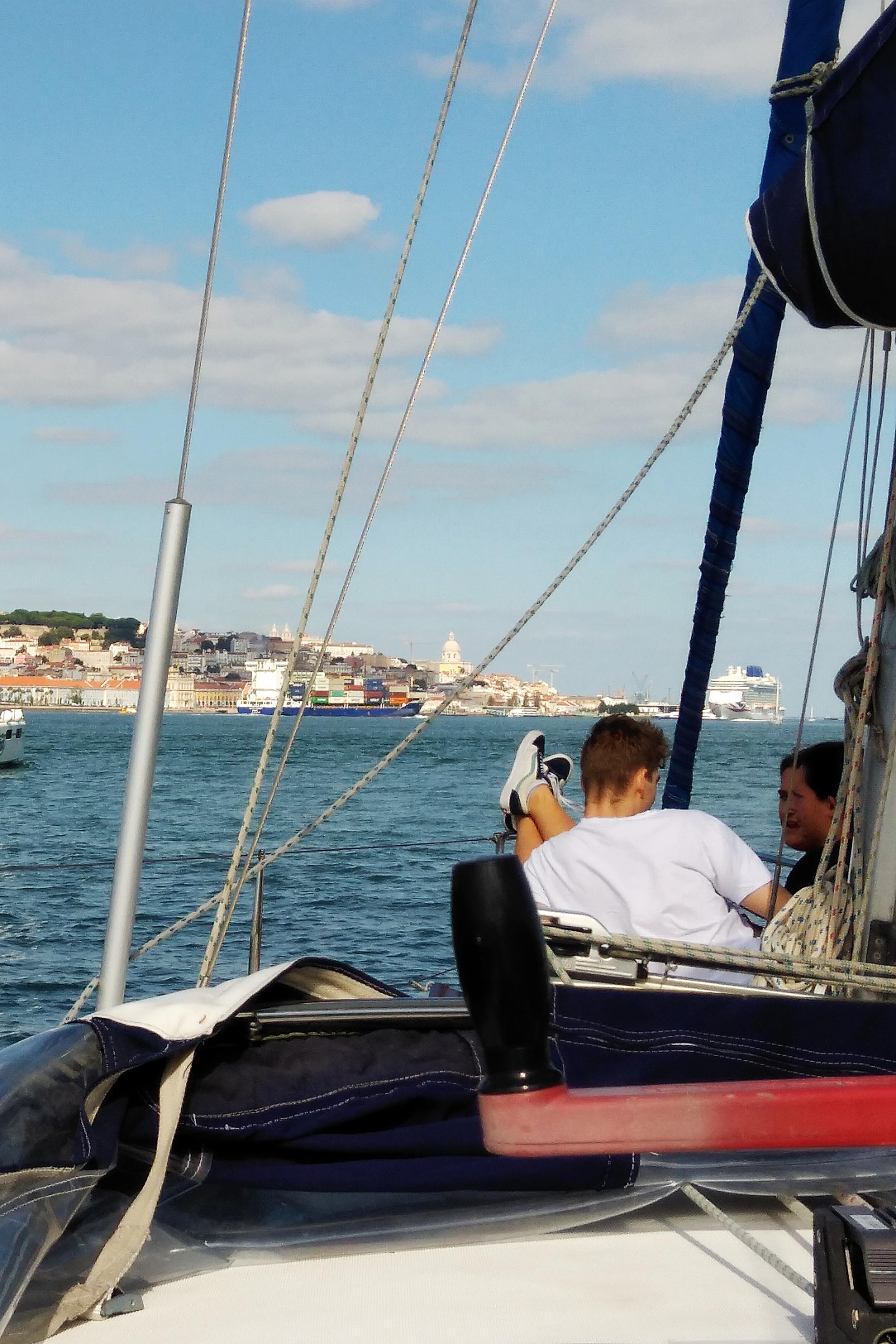 Sailing to city center