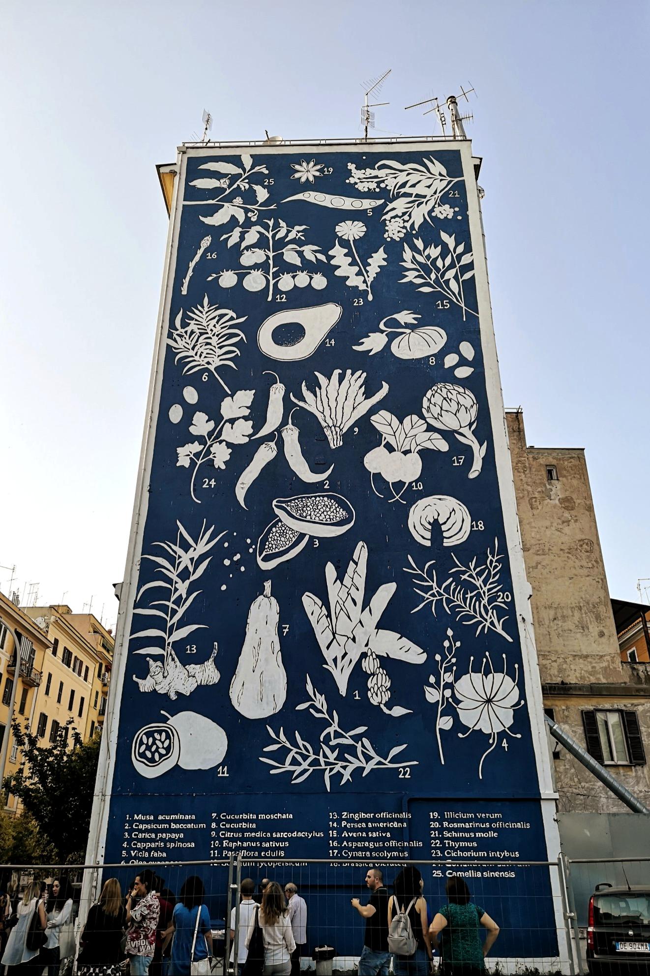 Un mural del quartiere