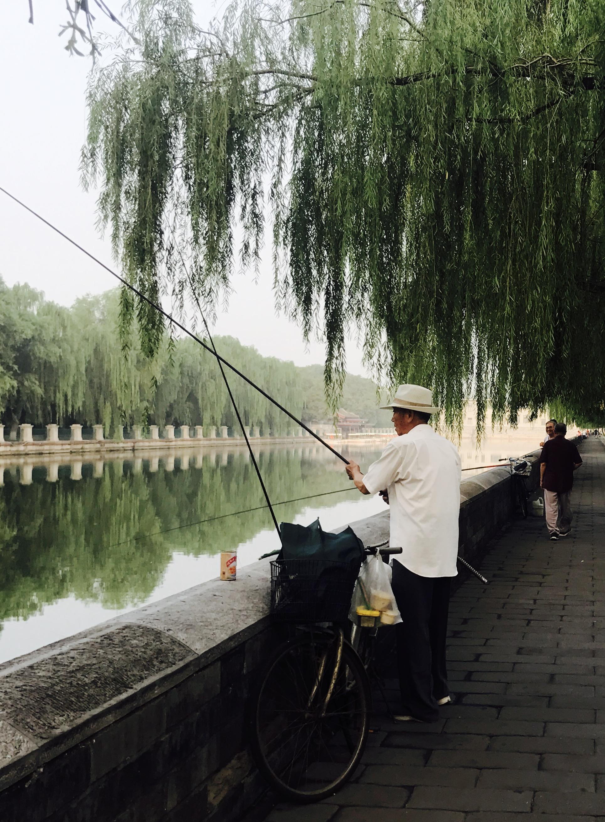 在护城河边,伴着北京人的生活日常,漫跑吧