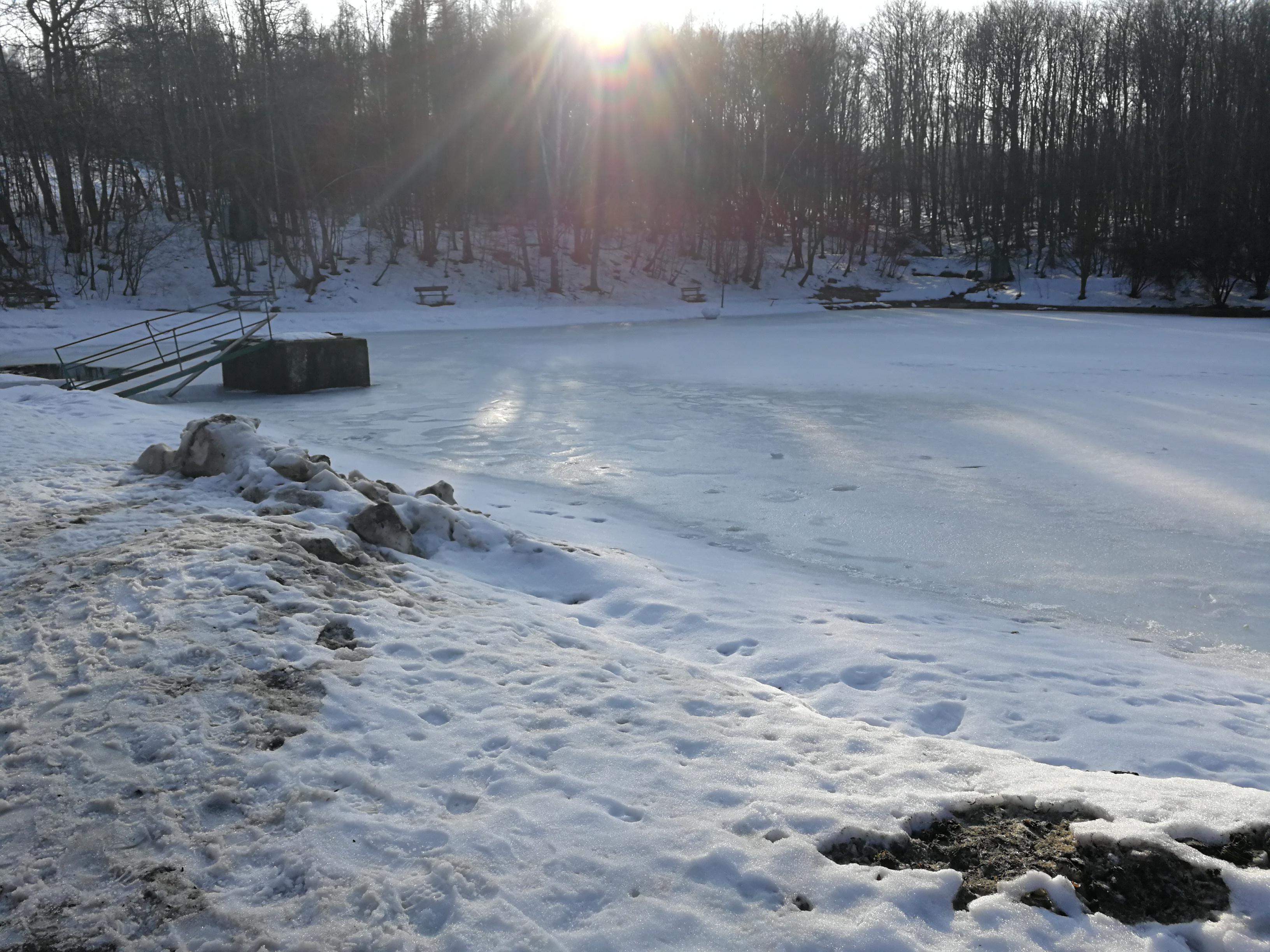 A dew pont at Zochova chata - the winter