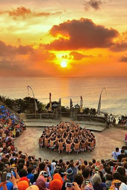 Kecak dance with fire attraction