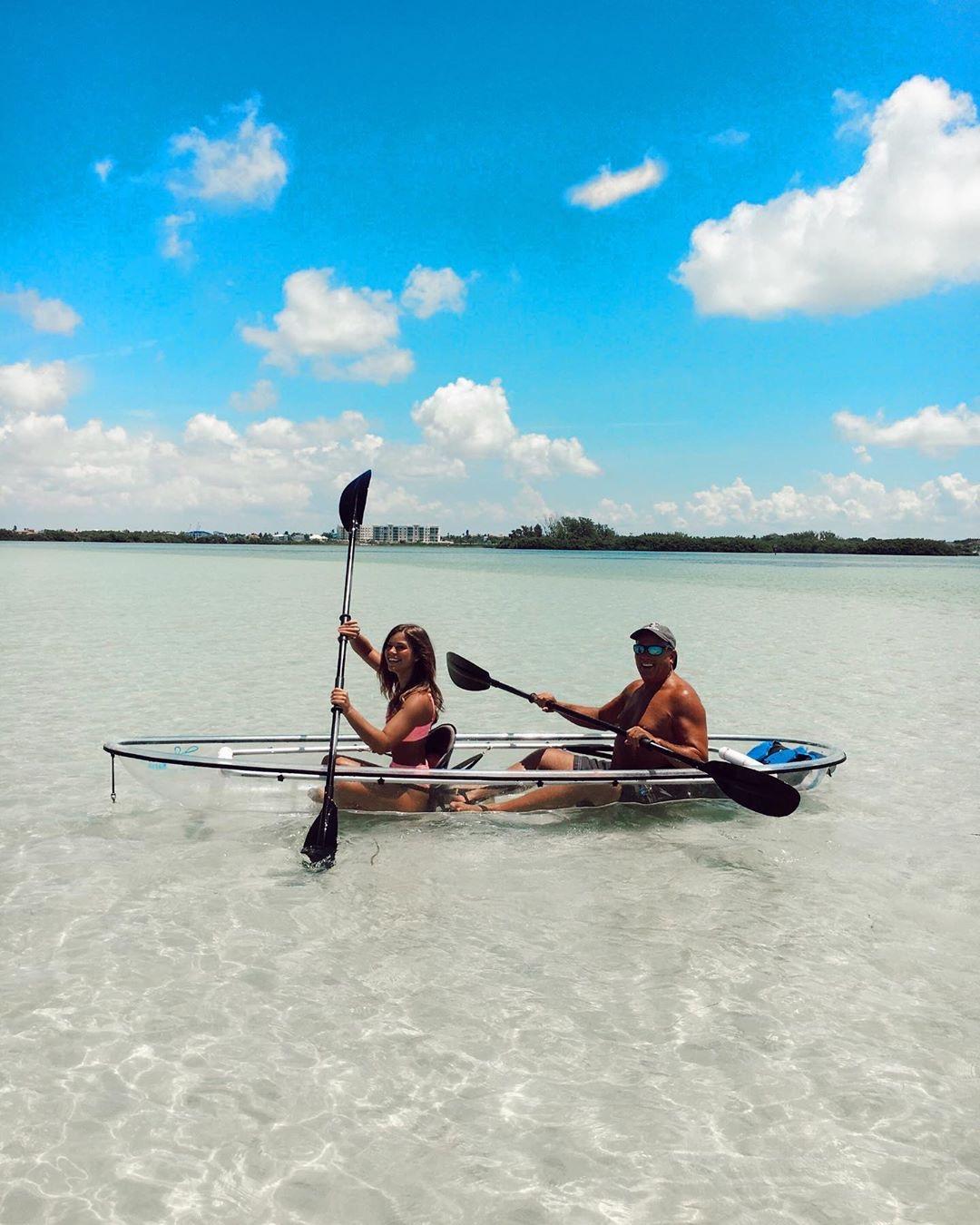 Paddle across beautiful sandbars