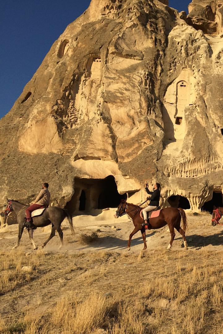 Riding past the Fairy Chimneys