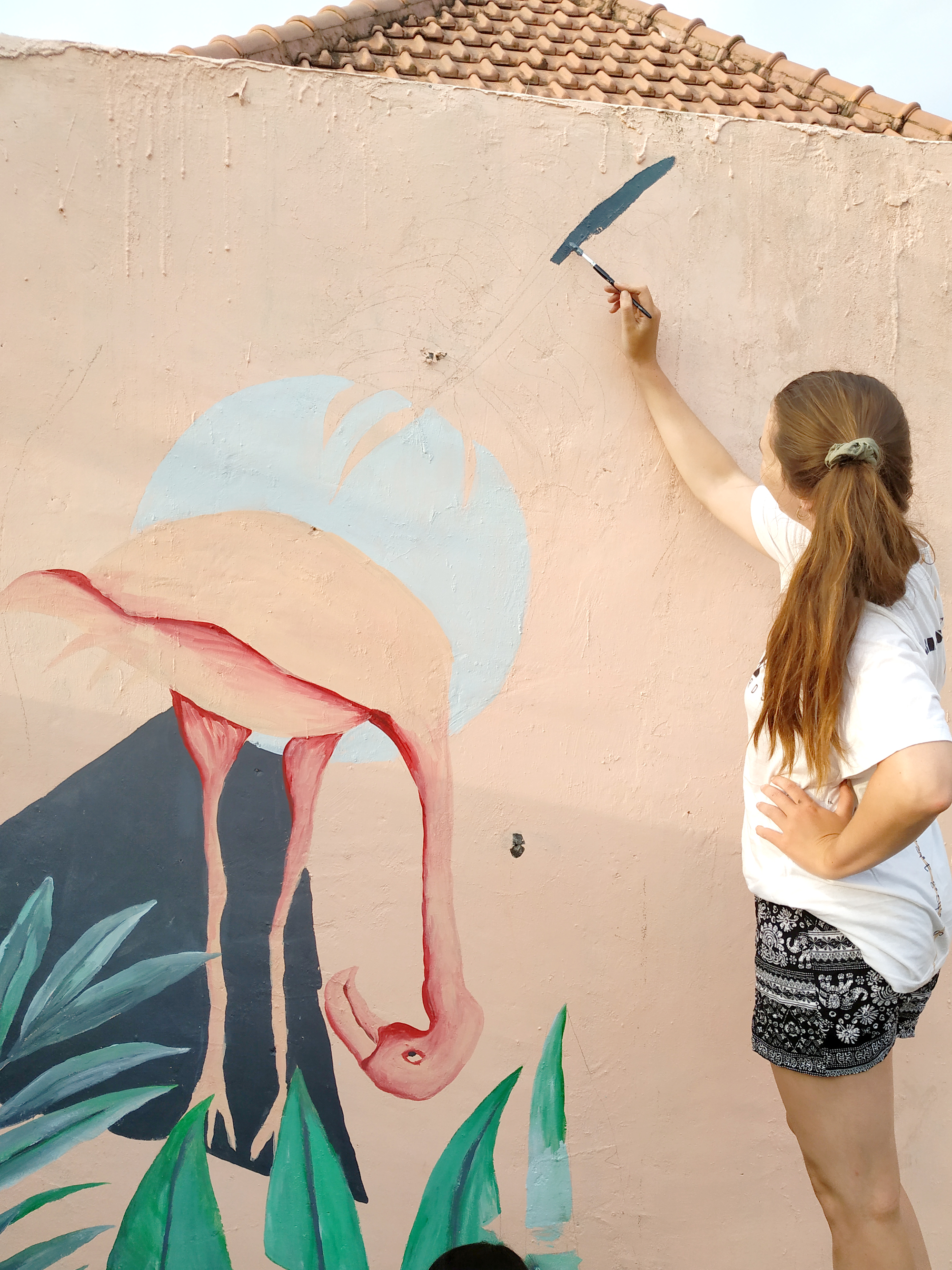 Progressing with mural